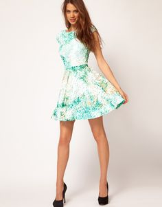 ASOS Skater Dress With Mermaid Sequins (as seen at www.thecherryblossomgirl.com , my French heroine. Almost belongs in daydreaming)