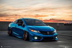 Chrome Blue Stanced Honda Civic Si Coupe by Avant Garde