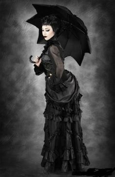 Woman With Raven Gothic Victorian Dresses Gothic