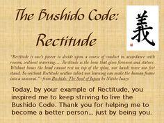 The Bushido Code - Rectitude