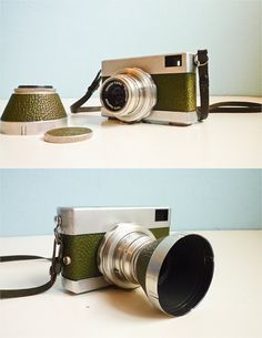 Vintage Rare 35mm film camera green Werra