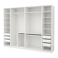 closet layout 443675000789613458 - IKEA PAX Armoire-penderie Source by Ikea Pax Wardrobe, Wardrobe Design Bedroom, Ikea Closet, Master Bedroom Closet, Bedroom Wardrobe, White Wardrobe, Wardrobe Storage, Modern Wardrobe, Bathroom Closet