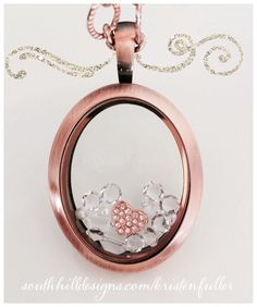 Simple and lovely. Locket Design, South Hill Designs, Floating Charms, Locket Charms, Picture Design, Personalized Jewelry, Bracelet Watch, Swarovski Crystals, Rose Gold