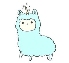 Two of my favorite things lama and unicorn Alpacas, Kawaii Drawings, Easy Drawings, Tumblr Png, Overlays Tumblr, Posters Vintage, Dibujos Cute, Tumblr Stickers, Kawaii Art