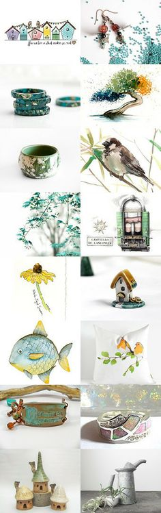 summer in our village by Helen on Etsy