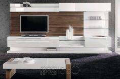Boss 74 Modern Wall Unit by Milmueble