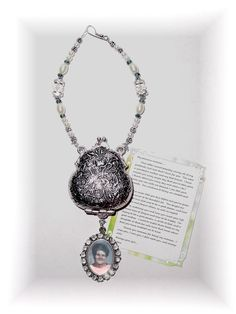 Letter to Momma Wedding Bouquet Memorial Photo Charm Pearls Crystals Tebetan Beads - FREE SHIPPING by StainedGlassAddie, $68.00