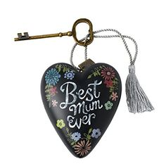 UK Gifts - Art Hearts by Demdaco Best Mum Art Heart. It is an Amazon affiliate link.
