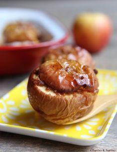 Pommes au four miel et pain d'épices