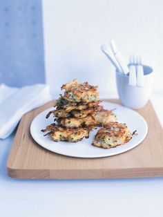 Pear And Blue Cheese Fritters | Donna Hay Cheese Fritters Recipe, Donna Hay Recipes, Tapas, Blue Cheese, Goat Cheese, Appetisers, Everyday Food, Appetizer Recipes, Dessert Recipes