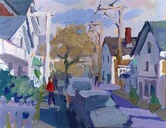 """""""Provincetown Street"""" 12"""" x 16"""" Oil on Canvas Charles Sovek"""
