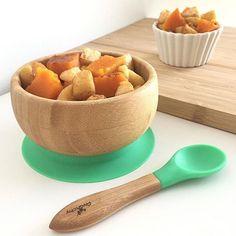 SNACK TIME  Roasted cinnamon butternut squash & apples   :@athomewithastghik