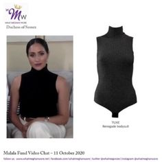 Meghan in Tracy Reese Hope for Flowers for Second Fortune MPW Appearance – UPDATED 10/14 | What Meghan Wore Turtleneck Bodysuit, Meghan Markle Style, Batik Prints, Tracy Reese, Fashion Updates, Harry And Meghan, New Life, British Royals, Basic Tank Top