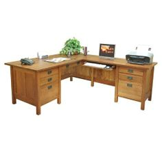 """Anthony Lauren CM L-DESK LR Craftsman Home Office 72"""" W Executive L-Computer Desk with Left Return Orientation: Right by Anthony Lauren. $2995.00. Anthony Lauren CM L-DESK RR Spread out your documents and computer equipment across Anthony Lauren's Executive L-shaped desk with Right Return! This handsome desk features a 72"""" W x 34"""" D desktop and 52"""" W x 24"""" D return for maximum efficiency. Place your keyboard on either side with the universal keyboard/standard drawers...."""