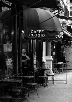 Cafe Reggio.  1 of my favorite NYC coffee shop.