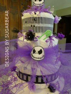 Nightmare Before Christmas Diaper Cake   Google Search