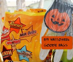 Are you hosting a Halloween party and in need of goodie bags?   Are you trunk or treating this year? I've got the perfect solution for that too!  Are you just looking for something fun to pass out to your kid's class? I can help!   Today's blog post is all about a fun little twist on your average Halloween goodie bag! Loads of fun to make, and you/your kids will LOVE the leftovers! #TrickorSweet #Ad #cbias