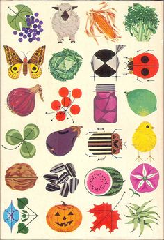 Back cover of the 1964 Ford Almanac, illustrated by Charles Harper - Mid-Century Modern Graphic Design