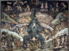 Giovanni da Modena, Inferno, 1410. The Basilica of San Petronio, Bologna.