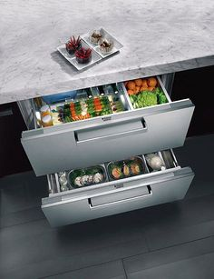 Chilled produce Kitchen Drawers