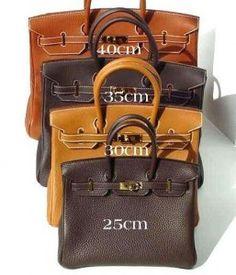 Hermes Birkin sizes- I will take one of each please :) hermes bags,hermes handbags,fashion bags,women style 2015 Hermes Birkin, Hermes Purse, Hermes Bags, Hermes Handbags, Jane Birkin, Purses And Handbags, Birkin Bags, Balenciaga Handbags, Balenciaga Bag