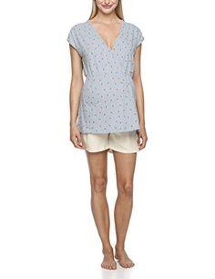 Anita Maternity - Pyjama Hanni, Camicia da notte da donna, blu(blau (powder blue 370)), L Anita Maternity http://ebay.to/1ME7pvn