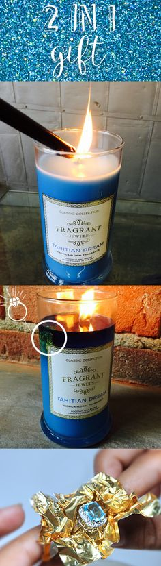 Each one of these scented Fragrant Jewels candles contains a ring, and a chance to win a ring with $100, $1000 or even a $10,000 diamond ring!