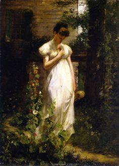 Theodore Robinson (American, 1852-1896)  Flower of Memory