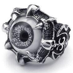 KONOV Jewelry Stainless Steel Gothic Skull Dragon Claw Evil Eye Biker Men's Ring, Black - Size 8 KONOV Jewelry http://www.amazon.com/dp/B00FO5KA88/ref=cm_sw_r_pi_dp_1C48tb1HGW5Q0