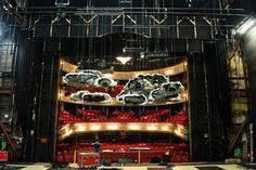 The set of Dragon being built on the stage of the Royal Lyceum Theatre. By Alex Aitchison for Edinburgh International Festival