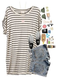 """""""shopping haul in the d!!"""" by ellaswiftie13 ❤ liked on Polyvore featuring J.Crew, Charlotte Tilbury, Rayban, Christian Dior, Initial Reaction, Bare Escentuals, Kendra Scott, Sun Bum, Maybelline and Essie"""