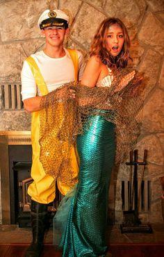 DIY Meermaid & Fisherman Halloween Couple Costume Idea