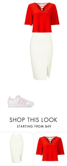 """Look inspiração chicisimos"" by beatrizap05 on Polyvore featuring moda, Miss Selfridge e adidas"