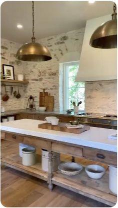 Prep Kitchen, Kitchen Dining, Kitchen Decor, Stone Kitchen, Kitchen Island, Decorating Kitchen, Kitchen Small, Kitchen Signs, Kitchen Ideas