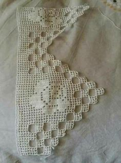 This Pin was discovered by Max Crochet Boarders, Crochet Edging Patterns, Crochet Lace Edging, Love Crochet, Baby Knitting Patterns, Crochet Designs, Crochet Doilies, Crochet Yarn, Filet Crochet