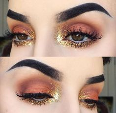 The glitter with the rusty color is KILLING me PINTEREST♕: @Pink23X