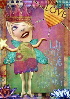 LOVE: Art by Dale created with DREAMS: FUNKY FAIRIES A collaboration between the Tumble Fish Studio and Crowabout StudioB at Deviant Scrap. what an awesome team!