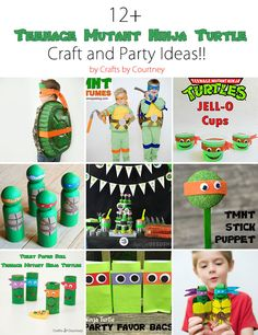 Easy and fun Teenage Mutant Ninja Turtle crafts, costumes and party ideas