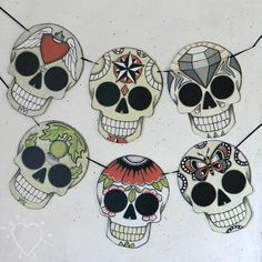 Sugar Skull Garland by cartbeforethehorse