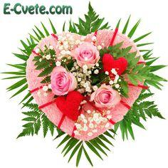 Доставка на цветя за влюбени, сърца от цветя и букети с рози