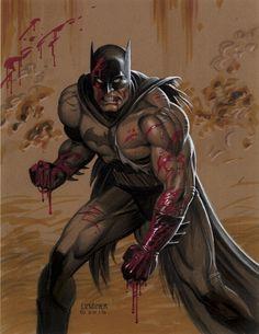 Blood Batman by Joseph Michael Linsner