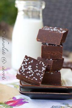 Easy Dark Chocolate Fudge from @Caroline Edwards | chocolate and carrots