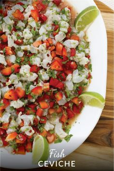 Fresh ceviche is my go-to recipe when I have really fresh fish. It takes about 15 minutes to make and is always appreciated. Scoop it up with tortilla chips for a mighty fine appetizer.