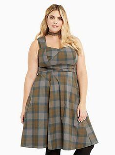 6ed049a813cd Outlander Tartan Wrap Bodice Swing Dress, OUTLANDER TARTAN Outlander  Clothing, List Style, Plus
