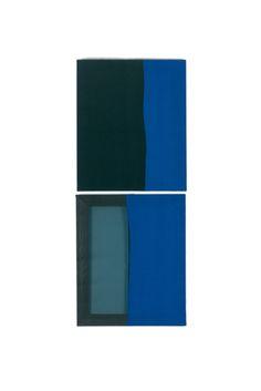 Duology 001, 31.8 x 81.8 x 2.7cm, fabric on canvas, 2014© Yunji Jang