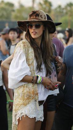 Coachella Victoria's Secret model Alessandra ambrosio Newport skinny tea