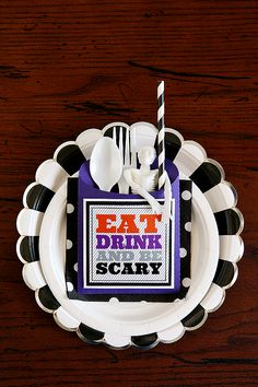 Eat, Drink and Be Scary free printable