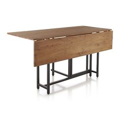 Origami Drop Leaf Dining Table In New Furniture | Crate And Barrel