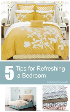 5 Tips to Refreshing Your Bedroom This Spring || Cheap, easy ways to Refresh a bedroom.
