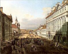 Bernardo Bellotto, Long Street in Warsaw, 1778